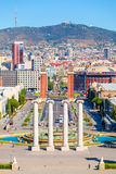 Barcelona, square of Spain, Plaza de Espana Stock Photo