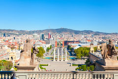 Barcelona, square of Spain, Plaza de Espana Stock Photos