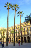 Barcelona square Royalty Free Stock Photography