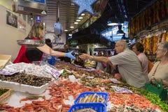 Barcelona - St Joseph Jedzenia Rynek - Hiszpania. Zdjęcia Royalty Free