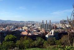 barcelona stad Arkivfoton