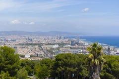 barcelona stad spain Royaltyfri Bild