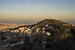Barcelona stad, Spanien Arkivfoto