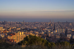 Barcelona stad, Spanien royaltyfri bild