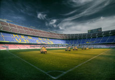 Barcelona stadium. Barcelona`s stadium in Spain, Catalonia Stock Images