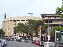 Barcelona stadium piłkarski zdjęcie royalty free