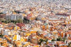 Barcelona stadssikt Royaltyfri Fotografi