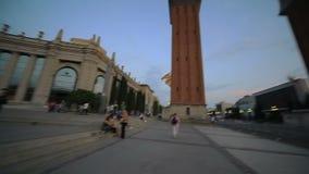 Barcelona-Stadtarchitektur stock video