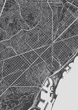 Barcelona-Stadtplan, ausführliche Vektorkarte stock abbildung