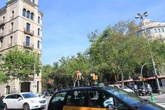 Barcelona-Stadtstraßenansicht Lizenzfreies Stockbild