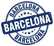 Barcelona stamp. Barcelona round grunge stamp isolated on white background. Barcelona