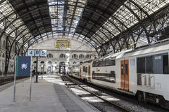 barcelona stationsdrev Arkivbilder
