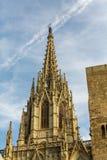 Barcelona Steeple Przeciw niebu Zdjęcie Stock