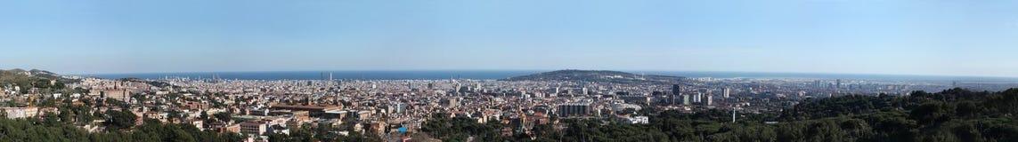 barcelona stor överblick Royaltyfri Fotografi