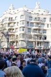 barcelona strajk generalny Zdjęcia Royalty Free