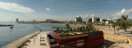 Barcelona strand Royaltyfria Foton