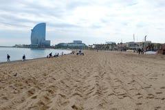 Barcelona-Strand stockbild