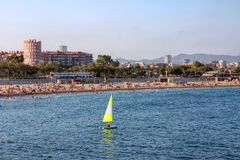 barcelona strand spain royaltyfri foto