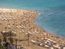 barcelona strandstad Royaltyfri Foto