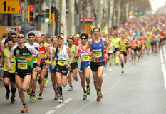 Barcelona Marathon Royalty Free Stock Photo
