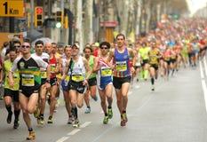 Barcelona Marathon Royalty Free Stock Photo