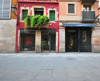 Barcelona street in old town Stock Photo