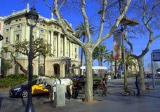 Barcelona street scene,Spain Royalty Free Stock Photo