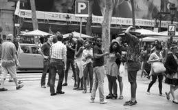 Barcelona street stock images