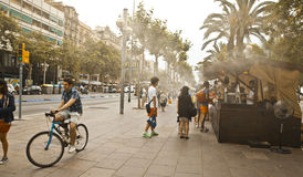 Barcelona street Stock Photo