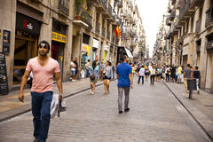 Barcelona street Royalty Free Stock Images