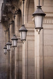 barcelona streetlights Royaltyfri Fotografi