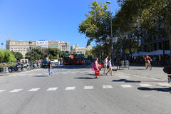 Barcelona streets Stock Photo