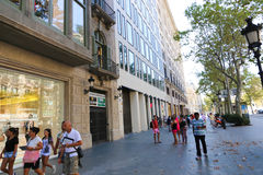 Barcelona streets Stock Photography