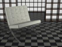 Barcelona-Stuhl im Studio Lizenzfreie Stockbilder