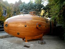 Barcelona submarina de madera Fotos de archivo libres de regalías