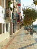 Barcelona suburban street Royalty Free Stock Photography