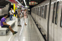 Barcelona subway Royalty Free Stock Photo