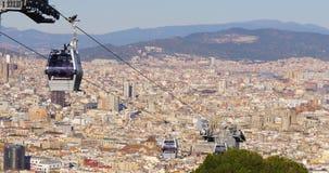 Barcelona sunny day montjuic park funicular city panorama 4k spain. Spain barcelona sunny day montjuic park funicular city panorama 4k stock video