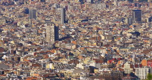 Barcelona sunny day panoramic of the city 4k spain. Spain barcelona sunny day panoramic of the city 4k stock footage