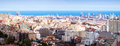 Barcelona in sunny day. Spain Stock Photography