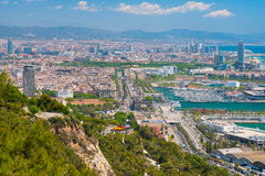 Barcelona in a sunny summer day Royalty Free Stock Photography