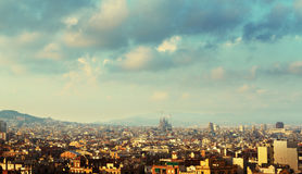 Barcelona in sunset time, Spain Royalty Free Stock Photo