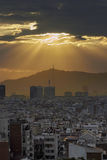 Barcelona sunset view Royalty Free Stock Image