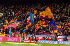 Barcelona supporters Stock Photography