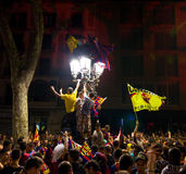 Barcelona supporters celebration Stock Photo