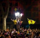 Barcelona supporters celebration Stock Photo