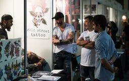 Barcelona tatueringexpo i Fira de Barcelona Arkivbild