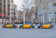 Barcelona taxi, Spain Stock Photo
