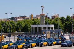 Barcelona taxi stop Spain Stock Photos