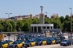 Barcelona taxi stop Spain Stock Photos